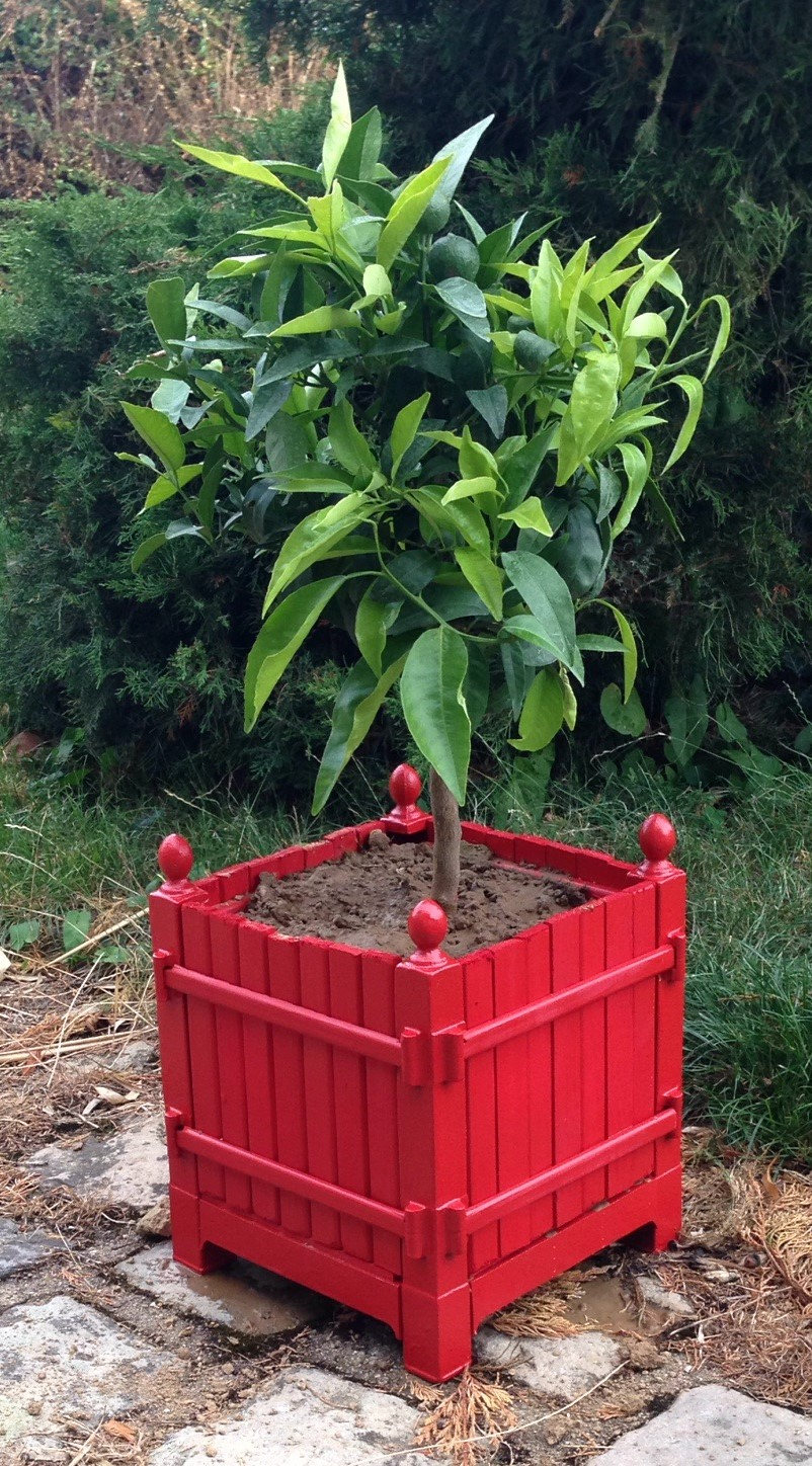 Bac a oranger jardiniere rouge