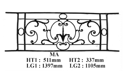 Grille de balcon garde corps fonderie loiselet for Normes garde corps fenetre