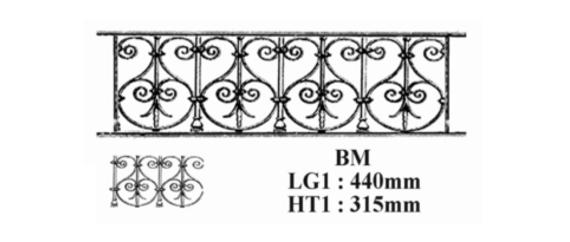 barre d 39 appui garde corps bm fonderie loiselet. Black Bedroom Furniture Sets. Home Design Ideas