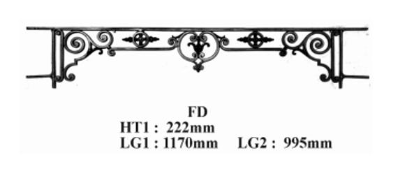 barre d 39 appui garde corps fd fonderie loiselet. Black Bedroom Furniture Sets. Home Design Ideas
